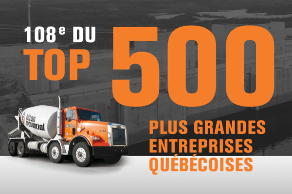 Béton Provincial parmi les 500 plus grandes entreprises du Québec !